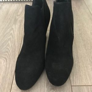 Talbots Black Suede Ankle Booties (size 9)